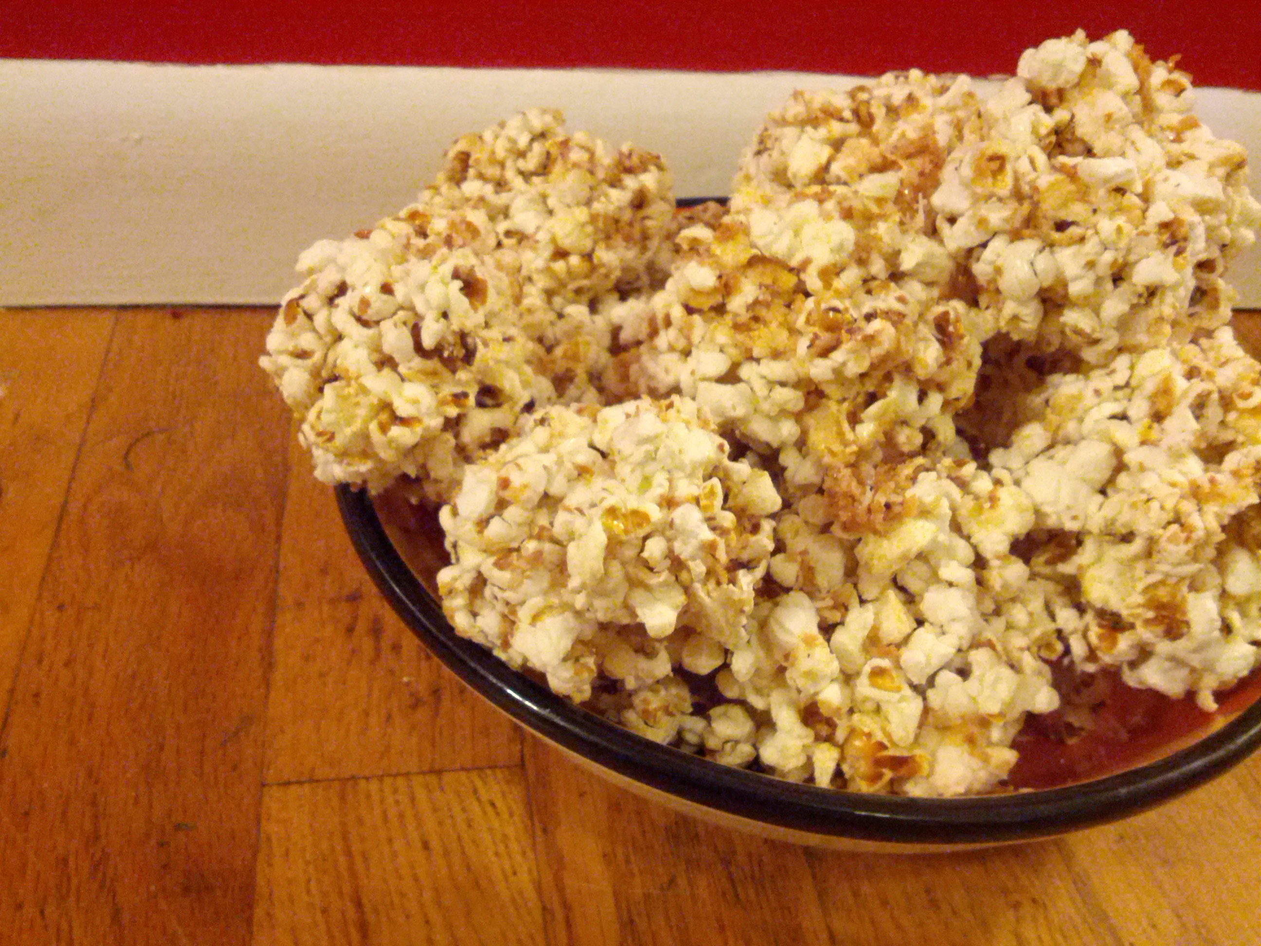Honey Coconut Popcorn Balls