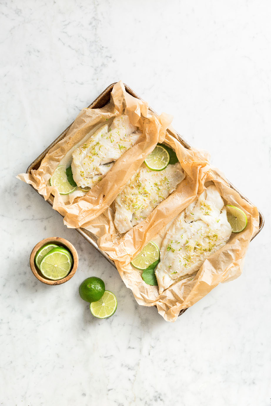 Coconut Lime Flounder in Parchment