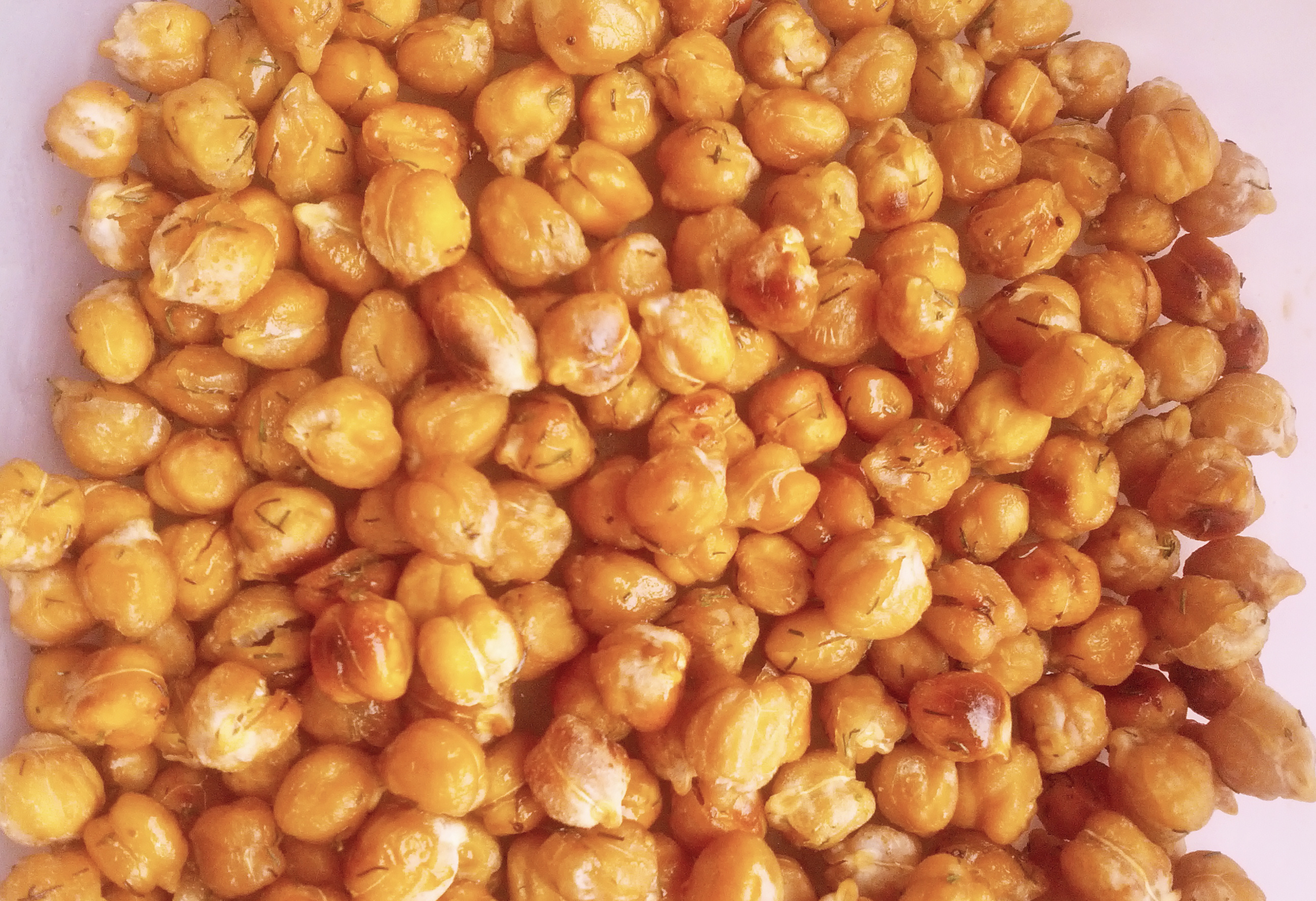 Honey Dill Toasted Chickpeas