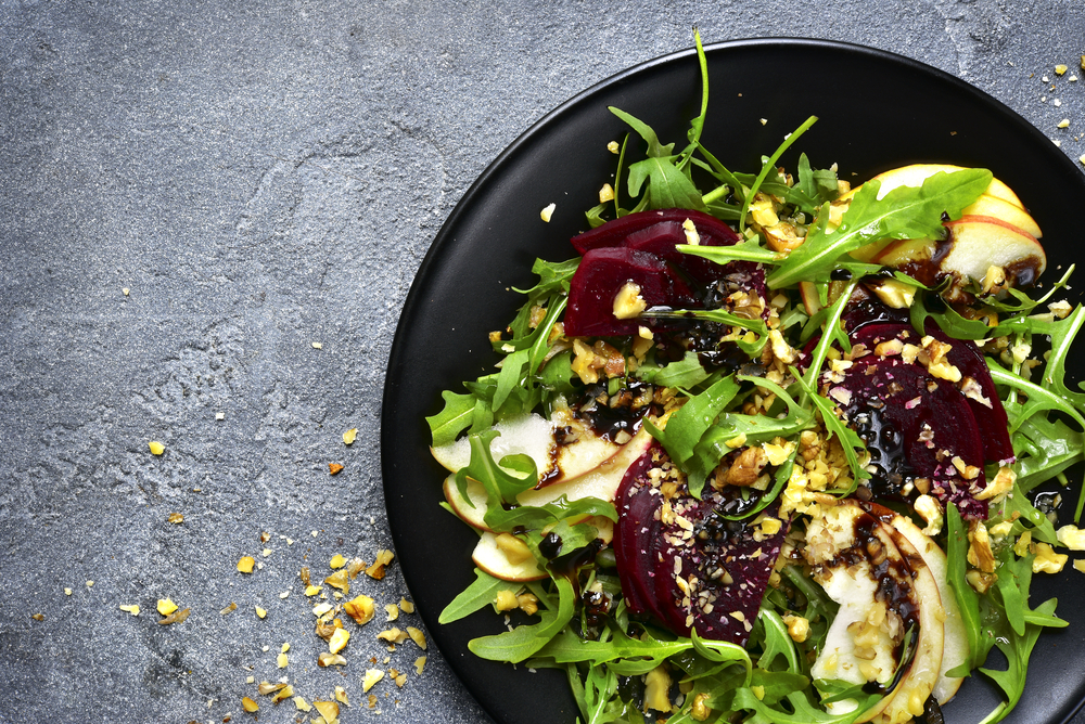 Roasted Beet and Apple Salad with Balsamic Dressing