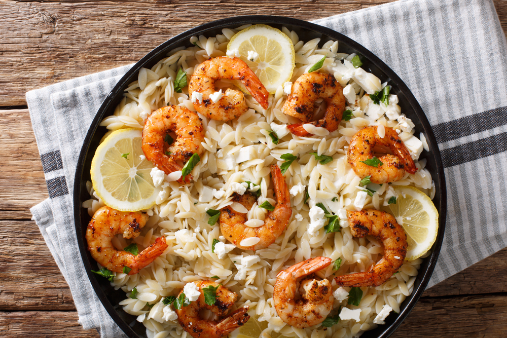 Mexican Shrimp with Orzo