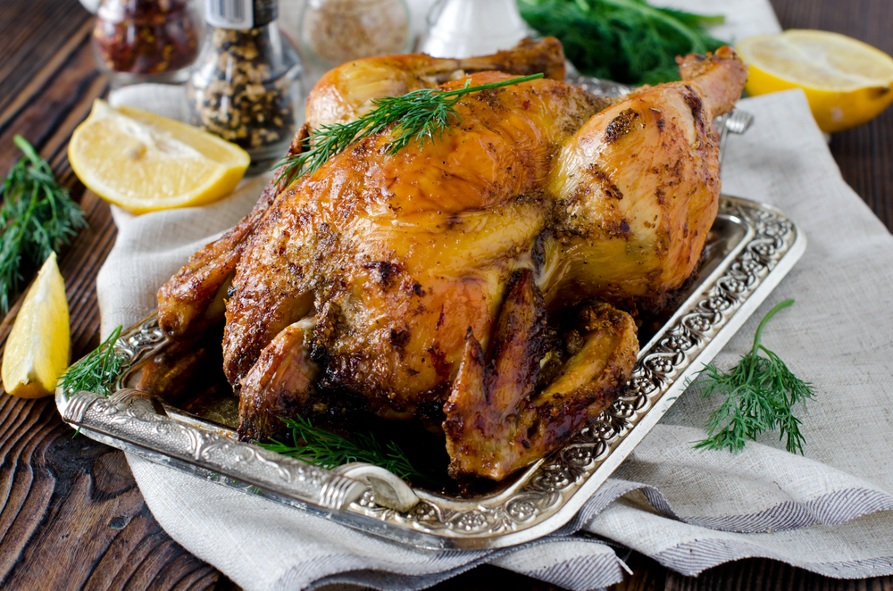 Lemon Dill-Roasted Chicken